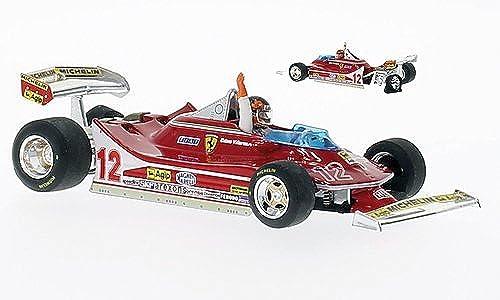Ferrari 312 T4, No.12, GP Niederland, 1979, Modellauto, Fertigmodell, Brumm 1 43