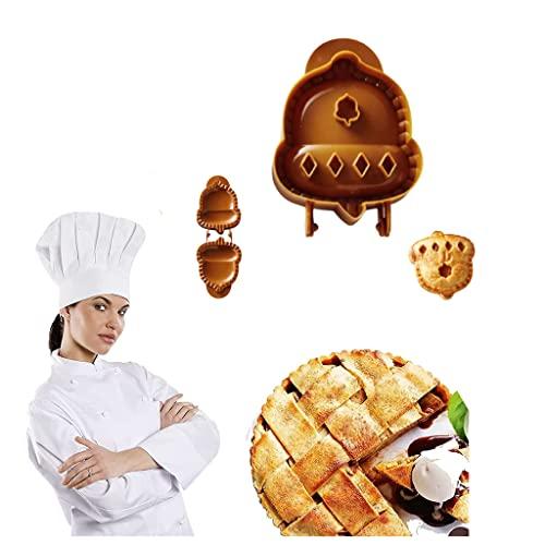 Fall Hand Pie Molds Apple, Acorn & Pumpkin, Set of 3, Mini Pie Mould Dough Press Mold Tool, Pumpking Pie Decoration Wraper Dough Stamp Cutter, Expand Your Fall Baking Repertoire (B)