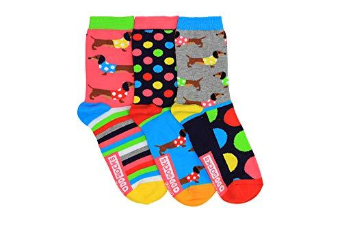 Dackel Oddsocks Socken in 37-42 im 3er Set - Strumpf