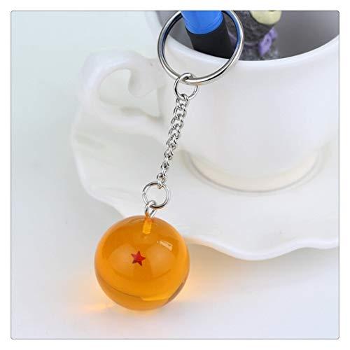 Anime Keychain 3D 1-7 Sterne Cosplay Kristallkugel Schlüsselanhänger Sammlung Spielzeug Geschenk Schlüsselanhänger (Color : One Star)