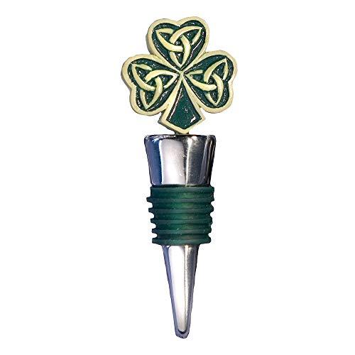 FASHIONCRAFT 1922 Shamrock/Trinity Love Knot, Irish Themed Bottle Stoppers, Shamrock Wedding Favors, 4.5' X 1.5' X 1', Gray