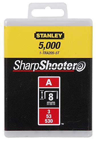 Stanley Klammern Typ A (8 mm, Klammern aus Runddraht für Elektro- und Handtacker Typ A, 5000 Stück) 1-TRA205-5T