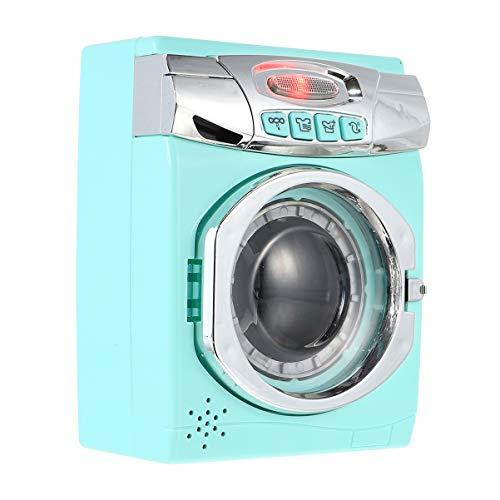 VOSAREA Kinder Waschmaschine Spielzeug Interaktives Frühes Lernen Housekeeping Spielzeug nach Hause Spielen Zubehör mit Realistischen Klängen Geschenke für Kinder Kleinkinder
