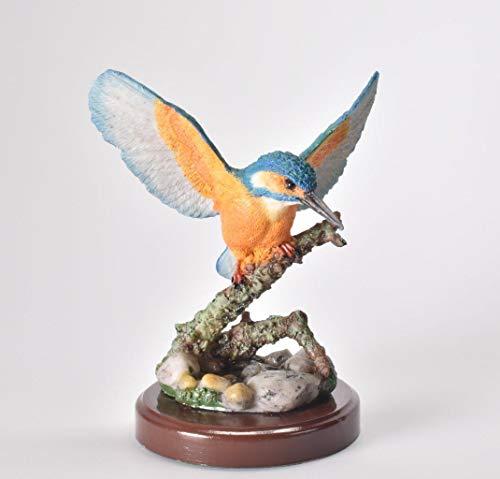 IXO/ALTAYA/ATLAS Figur Eisvogel mit Sockel Dekoration Vogel Statue