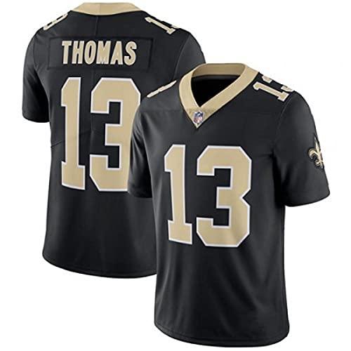 Weiyue Camisetas De Fútbol Americano Camiseta De Rugby NFL Hombre Saints #13 Thomas Jersey De Juego Fan Unisex Rugby Print Manga Corta Camiseta De Entrenamiento(Size:3X-Large,Color:B)