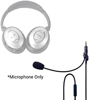 Headset Buddy ClearMic for Bose QC15-3.5mm Male to 3.5mm Male Noise-Cancelling Boom Microphone Inline Remote Adapter Cable for QuietComfort 15 Headphones (CM1502)