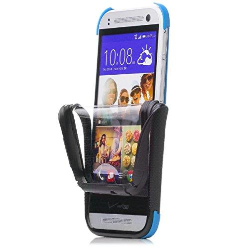 iCues HTC One Mini 2 - M8 Mini |  2 Part Touch Case Blau | Outdoor Dickes Hardcase Stoßfest Militär Lifeproof Männer Jungs 360 Grad Display Full Body Rundum beidseitig Komplett vorne hinten double Front Schutzhülle Hülle Cover Schutz