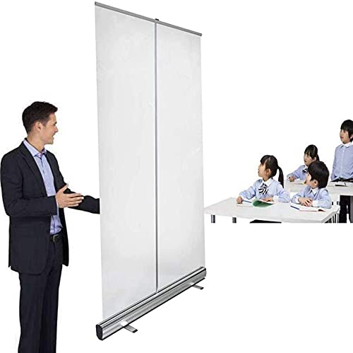 TAIDENG Protector antiestornudos de PVC transparente, protector de pantalla enrollable, protector de pantalla, barrera de aislamiento de pie portátil, aislamiento social (tamaño 80 x 180 cm)