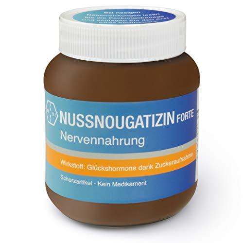 Stuhlgang Medizin Schokolade - Nervennahrung Schokolade Aufstrich Nuss Nougat – 400 g Glas mit Nussnougatizin Aufdruck