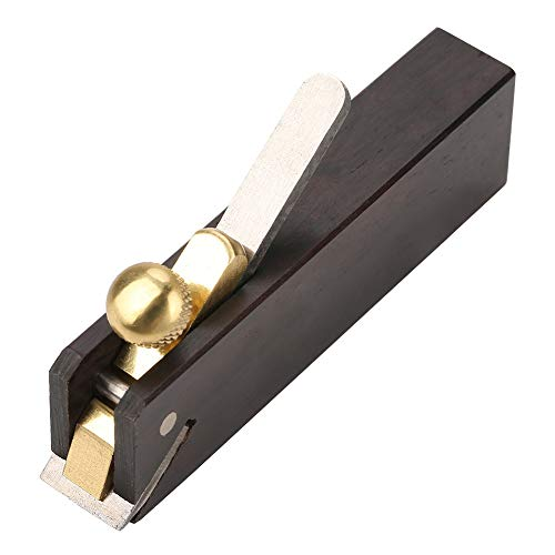 Mini Wood Planer Hand Tool, Pocket Plane 3 inch Wood Ebony Plane Hand Plane Wood Trimming Plane DIY Woodcraft Gadgets w/Planer Blade and Metal Fixer for Woodworking, Wood Planing Surface Smoothing