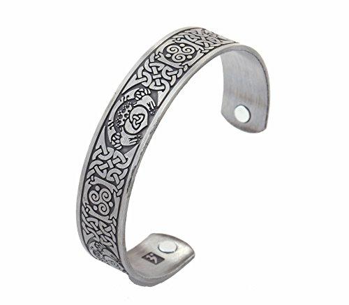 Lemegeton Magnetisches Armband mit keltischem Knoten, irische Krada-Liebe, Freundschaft, Herren, Edelstahl