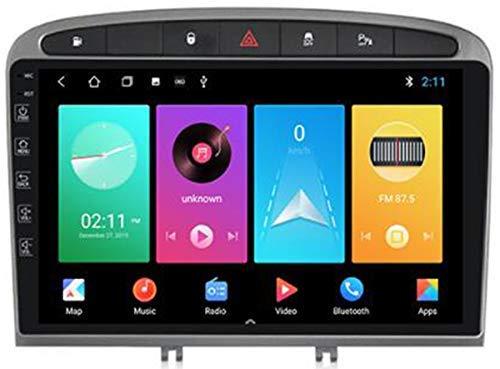 LL-SUNGIRL Android 9.0 Sistema de GPS de navegación de 9 Pulgadas para Peugeot 408 2010-2016 con FM Am Autoradio/Mirror Enlace/Sistema Multimedia/Carplay Android Auto