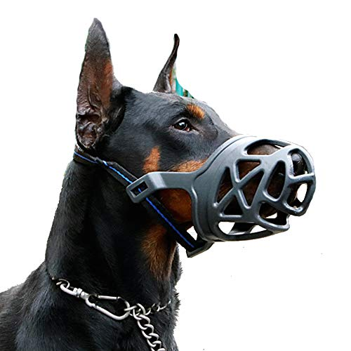 Dog Muzzle, Breathable Basket Muzzles for Small, Medium, Large and X-Large Dogs, Anti-Biting, Barking and Chewing Dog Mouth Cover (S, Black)