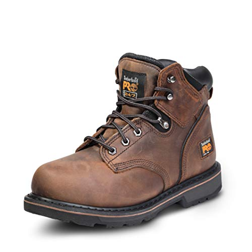 Timberland PRO Men's Pitboss 6' Steel-Toe Boot, Brown , 10.5...