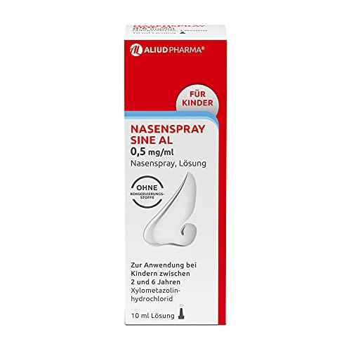 ALIUD PHARMA Nasenspray sine AL 0,5 mg/ml Nasenspray: Mit abschwellender Wirkung bei Schnupfen mit verstopfter Nase