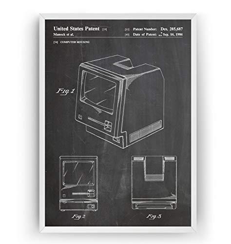 First Macintosh Computer 1986 Patent Poster - Steve Jobs Invention Giclee Print Art Kunst Wall Dekor Decor Entwurf Wandkunst Blueprint Geschenk Gift - Frame Not Included