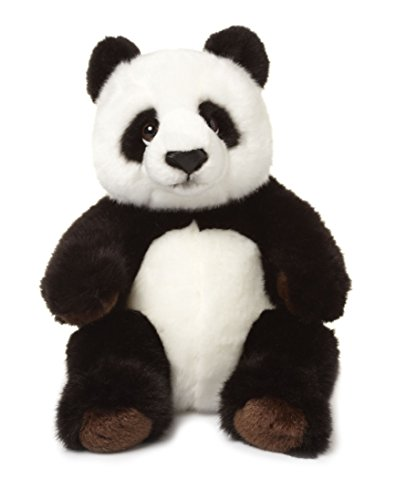 WWF 344999-4 Oso Panda de Juguete Felpa Negro, Blanco