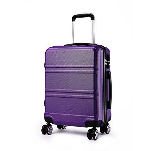 KONO Maleta de mano con 4 ruedas giratorias y carcasa rígida de plástico ABS, bolsa de viaje