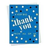 Big Dot Jumbo Thank You Card - Extra Large 9 x 12 with Envelope - Blue