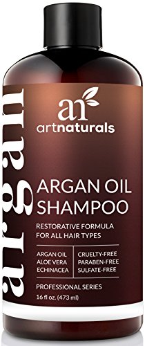 ArtNaturals Moroccan Argan Oil Shampoo - (12 Fl Oz / 355ml) - Moisturizing, Volumizing Sulfate Free Shampoo for Women, Men and Teens - Used for Colored and All Hair Types, Anti-Aging Hair Care
