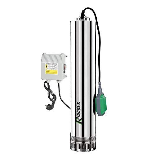 Ribimex 07366 - Bomba eléctrica sumergible de acero inoxida