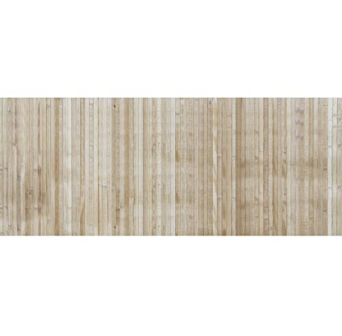 IlGruppone Passatoia per Cucina o Tappeto da Ingresso in Vero Bamboo Naturale a metraggio - Naturale