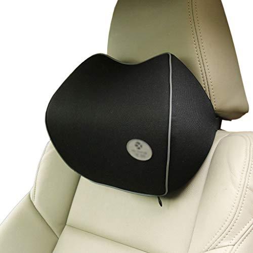 Totento Cuscino poggiatesta Auto, Cuscino Collo Auto in Memory Foam Ergonomico Cuscino Cervicale Auto per Guida Cuscino Supporto del Collo per Seggiolino Auto (Nero)