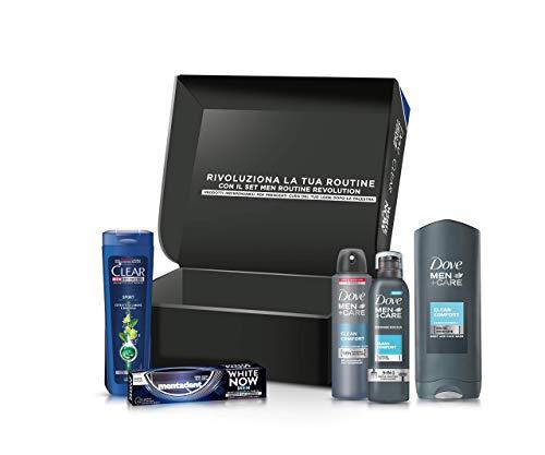 Confezione Regalo Men Personal Care, 1 Bagnodoccia CleanComfort 250 ml, 1 Mousse Doccia CleanComfort 200 ml, 1 Clear Shampoo, 1  Deodorante CleanComfo