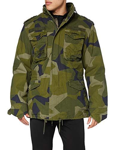 Brandit M65 Giant Jacke Chaqueta, Swedish Camo, L Regular para Hombre