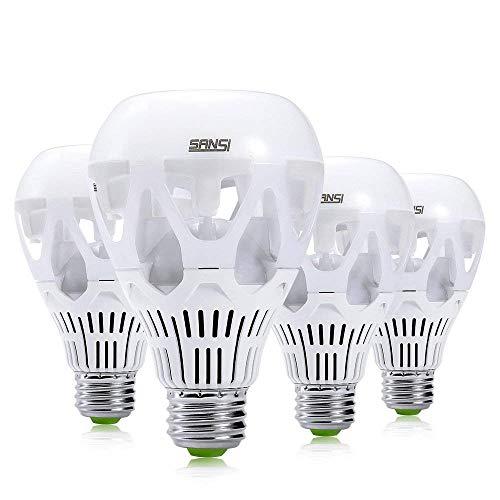 SANSI 18W (150 Watt Equivalent) LED Light Bulbs, A21 LED Bulbs, 2000 Lumens Light Bulbs, 5000K Daylight LED, E26 Base, Non-Dimmable, Bright led bulbs, 4-Pack