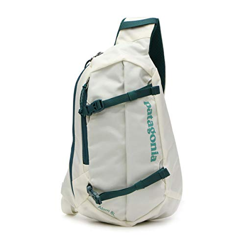 Patagonia Unisex's Atom Sling 8L Backpack, Birch White/Tidal Teal, Regular