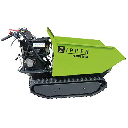 Zipper Mini Dumper ZI-MD500HS mit Kipphydraulik, Raupendumper, Motorschubkarre Kapazität bis 500 kg, Neu – mit stärkeren Motor - 6