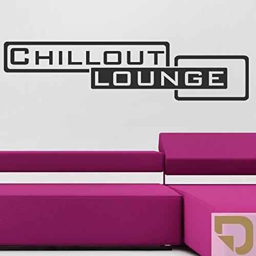 DESIGNSCAPE® Wandtattoo Chillout Lounge 60 x 15 cm (Breite x Höhe) hellbraun DW803118-S-F10