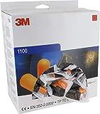 3M, 1100, Tappi per orecchie plasmabili in schiuma, confezione da 200 pezzi, colore arancione