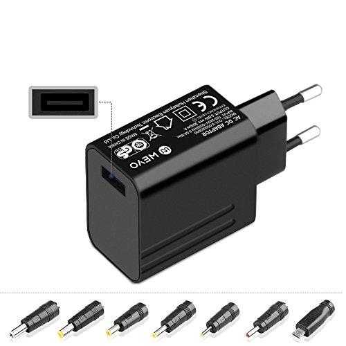 WEYO 5V Adaptador de Cargador Universal para TV Box,Camara de CCTV,WLAN-Router,Roku,Disco Duro Externo,Raspberry Pi 3 2,Tableta Teclast X16,Controller DJ Pioneer,Yealink T2x T3x T4x T42g Teléfono IP