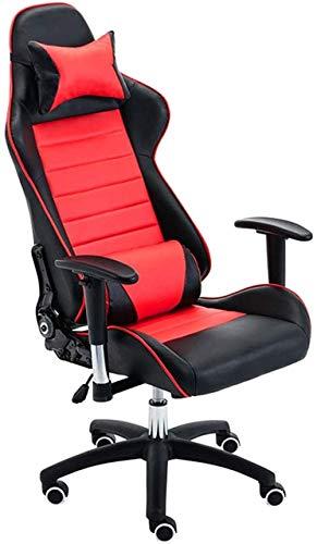 Daily Equipment Bürostühle Ergonomischer Computer Home Office Stuhl mit Verstellbarer Armlehne (Farbe: Rot)