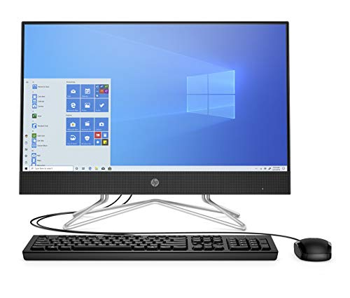 HP - PC 24-df0063nl All-In-One, AMD Ryzen 3 3250U, RAM 8 GB, SSD 128 GB, HDD 1 TB, Grafica AMD Radeon, Windows 10 Home, Schermo 23,8' FHD IPS, USB, HDMI, Lettore DVD, Lettore Micro SD, Webcam, Nero