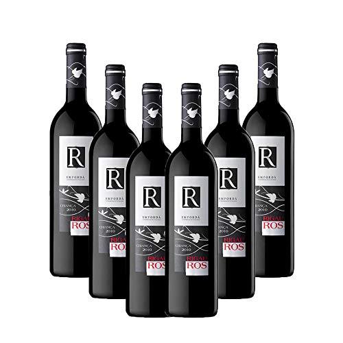 Vins&Co Barcelona Vino Tinto Rigau Ros Crianza 2016 – D.O. Empordà – Pack De 6 Botellas – Crianza: 12 Meses – Selección Vins&Co - 750 ml