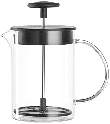 Leonardo Milchaufschäumer Caffè per me, 3-teiliges Set, hitzebeständiges Glas, 025508
