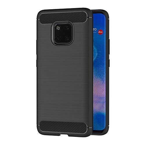 AICEK Funda Huawei Mate 20 Pro, Negro Silicona Fundas para Huawei Mate 20 Pro Carcasa Mate 20 Pro Fibra de Carbono Funda Case (6,39 Pulgadas)