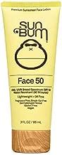 Sun Bum Original SPF 50 Sunscreen Face Lotion | Vegan and Reef Friendly (Octinoxate & Oxybenzone Free) Broad Spectrum Fragrance-Free Moisturizing UVA/UVB Sunscreen with Vitamin E , Yellow , 3 oz