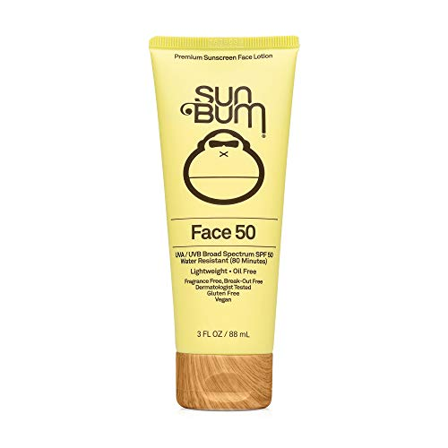 Sun Bum Original SPF 50 Sunscreen Face Lotion | Vegan and Reef Friendly Octinoxate amp Oxybenzone Free Broad Spectrum FragranceFree Moisturizing UVA/UVB Sunscreen with Vitamin E  Yellow  3 oz