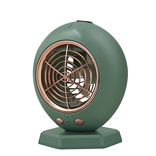 FCMU Mini acondicionador de Aire portátil, (refrigeración, atomización, humidificación Tres en uno) Ventilador Personal de Escritorio, Carga USB, Viento Fuerte sin Ruido Green