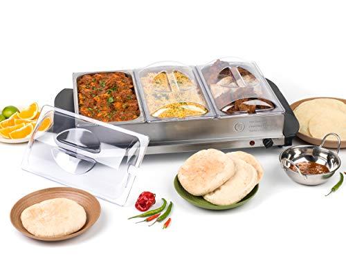 Calentadores de bebidas y alimentos Progress, acero inoxidable, metalizado, Buffet Server
