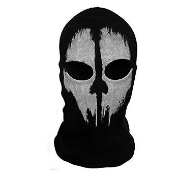 SzBlaZe Unisex Ghost Print Stocking Balaclava Mask Good For War Game Halloween Cosplay  Print 1