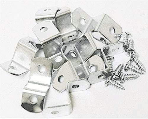 3/8' Canvas Offset Clips with Screws Extra Heavy Duty 10 Pack