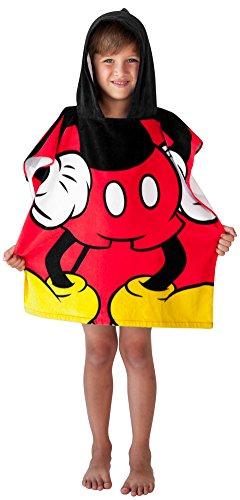 Disney Serviette de bain Mickey Mouse à capuche pour enfants