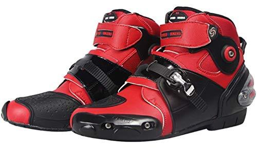 FULUOYIN Motorradstiefel Kurz Motorrad Schuhe Herren Kurzstiefel Sneaker Wasserabweisend mit Hartschalenprotektoren 40-46