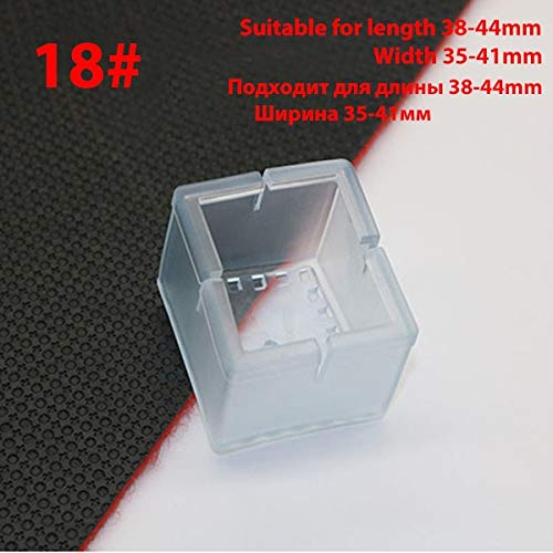 16s/Lot Table Chair Leg Mat Silicone Non-Slip Table Chair Leg Caps Foot Tion Bottom Cover Pads Wood Floor s-Type 18