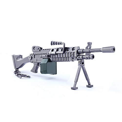 Giochi Metallo 1/6 MK60 Light Machine Gun Modello Action Figure Arti Giocattoli Collezione Portachiavi Regalo
